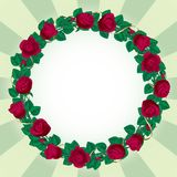 Round rose border Stock Photography