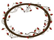 Round rose frame Stock Photo