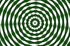 Round and round green and white Royalty Free Stock Image