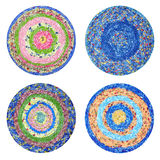 Round rugs Handmade Royalty Free Stock Photo