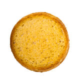A round rusk. Isolated on a white background Royalty Free Stock Photo