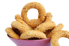 Round rusks stock images