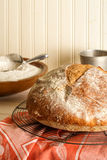 Round Rustic Artisan Bread Stock Photo