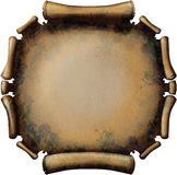 Round Rusty Scroll. Old rusty roll of a round shape. Isolated on white background Stock Photography