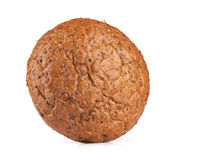 Round rye bread. On white background Royalty Free Stock Images