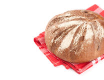 Round rye bread Stock Photo