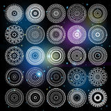 Round sacred geometry signs Stock Images