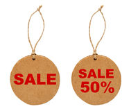 Round sale tags Royalty Free Stock Images