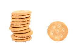 Round salty crackers Stock Image