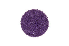 Round sample of purple colored rubber flooring Royalty Free Stock Image