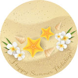 Round sand banner Stock Photography