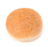 Round sandwich bun with sesame seeds Royalty Free Stock Photography