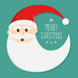 Round Santa Claus Face Christmas Greetings Royalty Free Stock Photography
