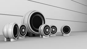Free Round Satelite Speakers Stock Image - 25940301