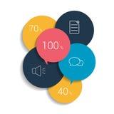 Round Schedule, tab, banner. Minimalistic vector design Stock Image