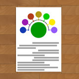 Round scheme document. Connect colored round. Vector illustration Royalty Free Stock Image