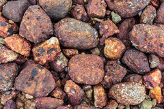 Round sea stones. Pebbles Background Royalty Free Stock Images