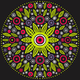 Round seamless. Contrasty round floral ornament, mandala stock photos