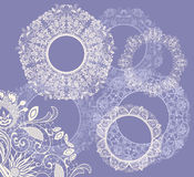 Round seamless lace set Royalty Free Stock Photo