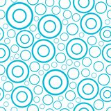 Round seamless pattern of random circles and rings ornament background vector illustration