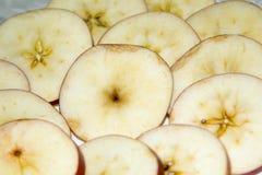 Round segments of an apple Stock Photo