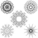A round set of ornaments. Abstract illustration Stock Photos