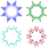 A round set of ornaments. Templates for your design Stock Photography