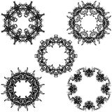 A round set of ornaments. Templates for your Stock Photography