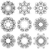 A round set of ornaments Royalty Free Stock Photo