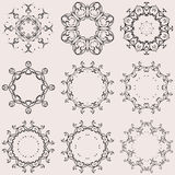 A round set of ornaments Stock Images