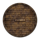 Round sewer cover (Manhole serie) Royalty Free Stock Photo