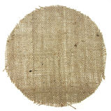 Round shape burlap canvas Stock Photos
