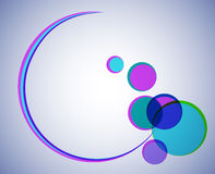 Round shape with colored circles. Abstract round frame with colored circles vector illustration