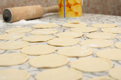 Round shape of the dough Stock Photography