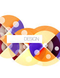 Round shape elements composition. Abstract background Stock Photos