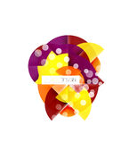 Round shape elements composition. Abstract background Royalty Free Stock Photo