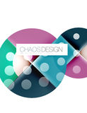 Round shape elements composition. Abstract background Royalty Free Stock Image