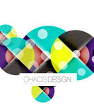 Round shape elements composition. Abstract background Stock Photography