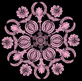 Round shape flower pink design Stock Photo