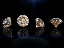 Round shape gemstone. Collections of jewelry gems Stock Photos