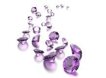Round shape gemstone. Jewelry background Stock Images