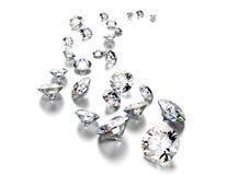 Round shape gemstone. Jewelry background Stock Photography