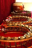 Round shape gongs - musical instruments Royalty Free Stock Photography