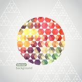 Round shape made of triangle. Triangle pattern background, trian Stock Image