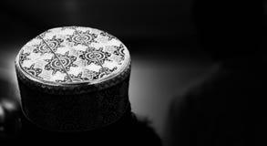 Round shape muslim cap unique photo. A round shape cotton made muslim cap unique photo stock photography