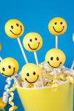 Smiley face cake pops Royalty Free Stock Image