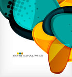 Round shapes abstract vector background Stock Photography