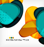 Round shapes abstract vector background Royalty Free Stock Image