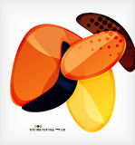 Round shapes abstract vector background Royalty Free Stock Photography