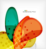 Round shapes abstract vector background Royalty Free Stock Photo